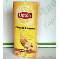 Чай Lipton Ginger Lemon 25*2г черный (24)