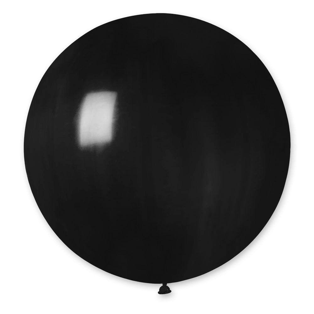 Повітряні кулі латексні G220_14 Gemar Італія, колір: пастель чорний, Діаметр 31 дюйм/80 см, 1 штука