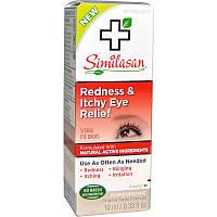 Similasan, Облегчение для красных &  зудяших глаз, 0,33 унции (10 мл)