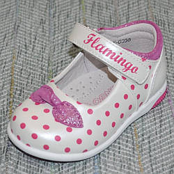 Нарядные туфельки в горошек, Flamingo размер 21 22 24