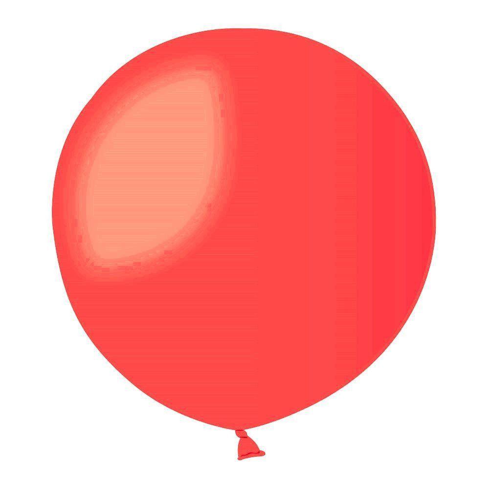 Повітряні кулі латексні G220_45 Gemar Італія, колір: пастель червоний, Діаметр 31 дюйм/80 см, 25 штук в уп