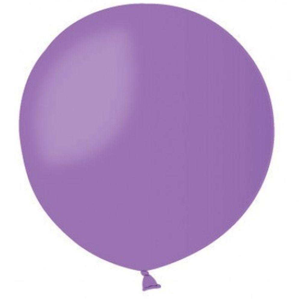 Латексные воздушные шары G220_49 Gemar Италия, расцветка: пастель сиреневый(лавандовый), Диаметр 31 дюйм/80 см