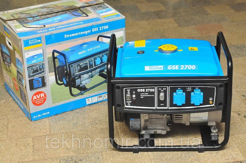 Генератор бензиновий 1-фазний, 2.3кв, Güde Stromerzeuger GSE 2700