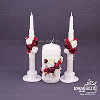 """Декоровані свічки """"Щедевр"""" 3 шт"""