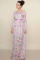 Красивое женское длинное платье в пол.