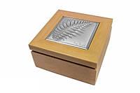 Шкатулка деревянная 8,5x8,5 см. Pigalle цвет-венге