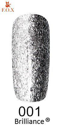 Гель-лак FOX Brilliance № 001 (графитовое серебро со слюдой), 6 мл