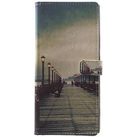 Чехол книжка для Sony Xperia XA2 H3113 боковой с отсеком для визиток, Мост