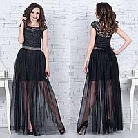 """Черное вечернее, выпускное платье трансформер """"Империя"""", фото 1"""
