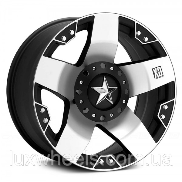 KMC XD SERIES XD775 ROCKSTAR Gloss Black with Machined Face