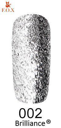 Гель-лак FOX Brilliance № 002 (серебро со слюдой), 6 мл