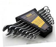 Набор ключей рожково-накидных  CrV  (6-22 мм) 12 шт