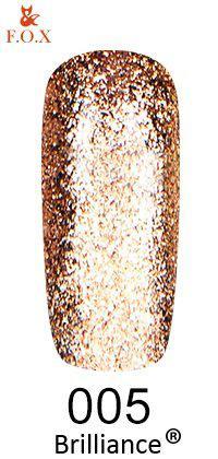 Гель-лак FOX Brilliance № 005 (золотой крем со слюдой), 6 мл