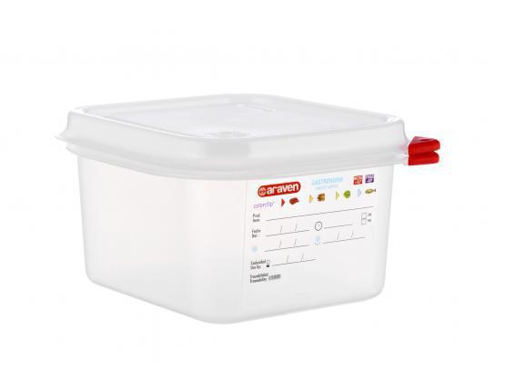 Емкость для хранения с крышкой 1/6 - 176х162х100 мм из полипропилена 1,7 л