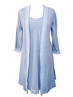 Ночная рубашка и халат для беременных и кормящих мам Лира 44 р.