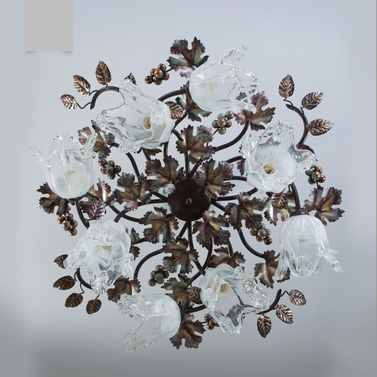 Люстра в стиле флористика в большую комнату, зал, гостиную 2038