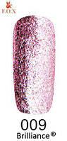 Гель-лак FOX Brilliance № 009 (светло-розовый со слюдой), 6 мл