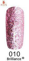 Гель-лак FOX Brilliance № 010 (розовый со слюдой), 6 мл