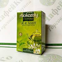 Чай Alokozay Зелёный с жасмином  100 г (40)