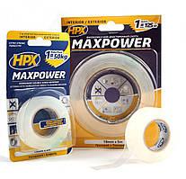 MAXPOWER - прозрачная двусторонняя лента для экстремальных нагрузок