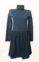 Женское платье с юбкой в горох цвет морской волны SiSi, р. S/М