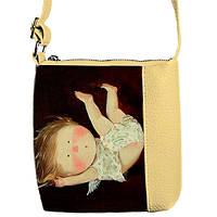 Модная сумка для девочки с принтом Это березка