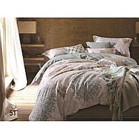 Натуральный комлект постельного белья сатин люкс Tiare евро 5T