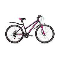 """Женский велосипед Avanti Omega Sport 26"""" черно-розовый"""
