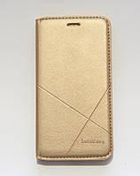 Чехол-книжка для смартфона Huawei Nova золотая