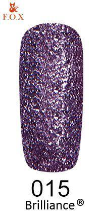 Гель-лак FOX Brilliance № 015 (мягкий фиолетовый со слюдой), 6 мл