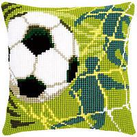 """PN-0150043 Набор для вышивания крестом (подушка) Vervaco """"Футбол"""""""