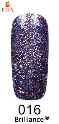 Гель-лак FOX Brilliance № 016 (холодный небесно-голубой, со слюдой), 6 мл