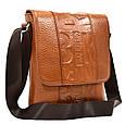 Мужская кожаная сумка через плечо Desisan, фото 3