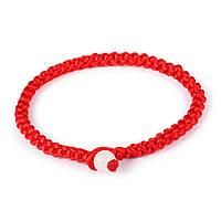 Красная нить на запьястье в виде браслета с бусиной Монах 172216