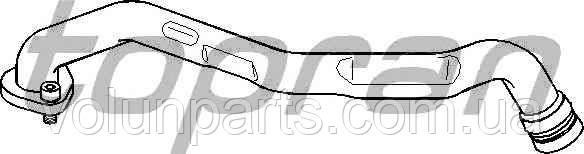 Патрубок вентиляции картерных газов AUDI/VW 1.9TDi