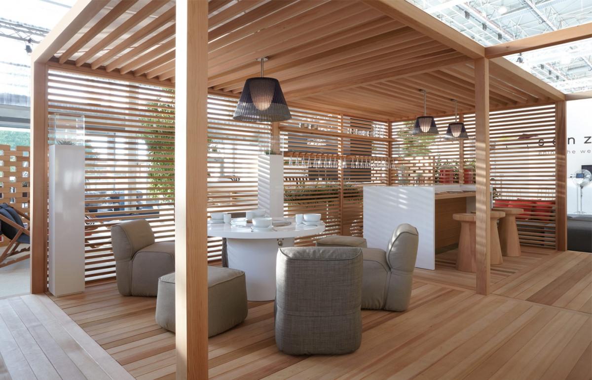 Садовый павильон из дерева
