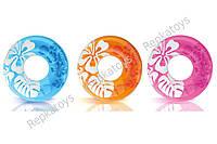 "Круг INTEX ""Цветок"", 3 цвета, 91 см, в пакете (ОПТОМ) 59251"