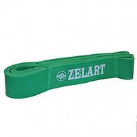 Фитнес-резинка для подтягиваний Zelart Резина Нагрузка 19 - 65 кг Зеленый (СПО FI-3917-G)