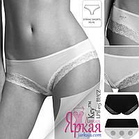 Трусы бразилиана женские Кей. Трусики вискоза набор 2шт. Польское нижнее белье для женщин Key™.