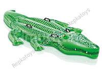 "Плотик ""Крокодил"" INTEX, размер 203-114 см, в коробке (ОПТОМ) 58562"