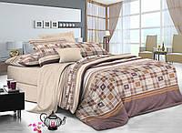 Двуспальный комплект постельного белья евро 200*220 сатин (9017) TM KRISPOL Украина