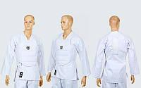 Защита корпуса (жилет) для каратэ детская WKF MA-6244 (PU, р-р XXS-M, белый)