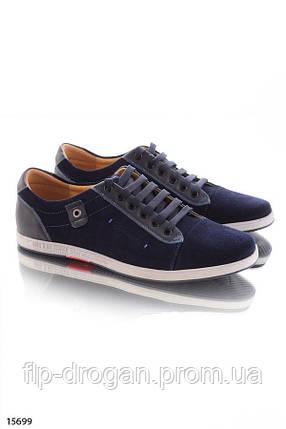 Синие туфли на шнуровке! в наличии! новые! 40-45 р!, фото 2