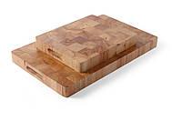 Доска разделочная 53x32,5x4,5 см. Hendi, деревянная  с ручками (506905)