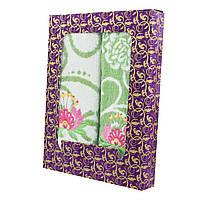Зеленый набор махровых полотенец Мальва банное и для лица