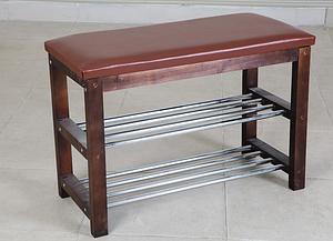 Лавка №1 Микс-Мебель 700х300х470 мм темный орех