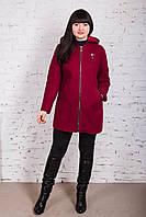 Женское пальто с капюшоном БАТАЛ от производителя модель весна 2018 - (рр-60), фото 1