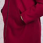 Женское пальто с капюшоном БАТАЛ от производителя модель весна 2018 - (рр-60), фото 3