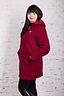 Женское пальто с капюшоном БАТАЛ от производителя модель весна 2018 - (рр-60), фото 4