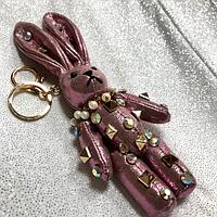 Брелок на сумку,  зайчик, кролик со стразами